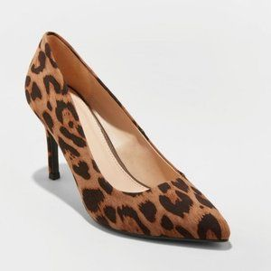 NWT a new day Gemma Leopard Print Pointed Toe Heel
